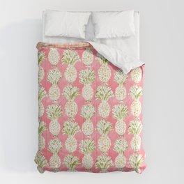 ZESTUAL Peach Golden Pineapples Comforters