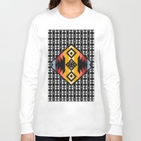 boho Long Sleeve T-shirts featuring Boho Mapuche by Julie Couto