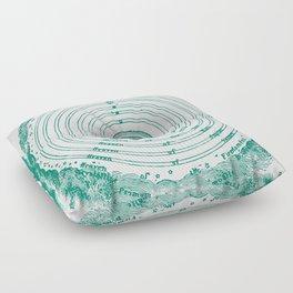 The Crystalline Spheres of Ptolemy Floor Pillow