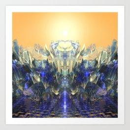 Crystal Ship Art Print