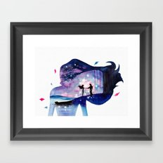 Pocahontas Double Exposure Framed Art Print