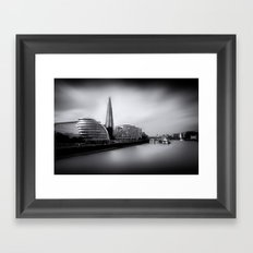 London City and The Shard.  Framed Art Print