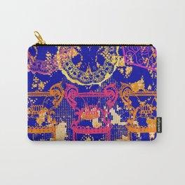Baroque original print - Blue Carry-All Pouch