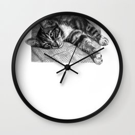 Resting Kitty G064 Wall Clock