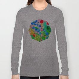 Marbling 4, Tie Dye Effect Abstract Pattern Long Sleeve T-shirt