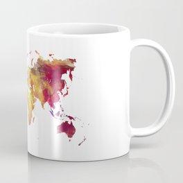 World Map after nuclear war Coffee Mug