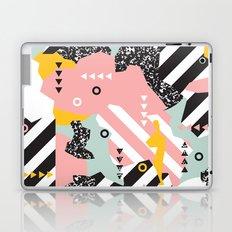 Spliced Geometric Memphis Pattern Geo Stripes Laptop & iPad Skin