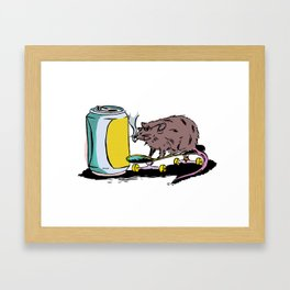 Skate Rat Framed Art Print
