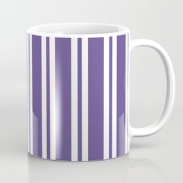 Ultra Violet Wide/Small/Wide Stripes Coffee Mug