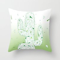 cactus Throw Pillows featuring Cactus by ARCHIGRAF