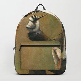 Vintage Fox In Suit Backpack