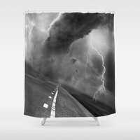wwe Shower Curtains featuring Storm by eARTh