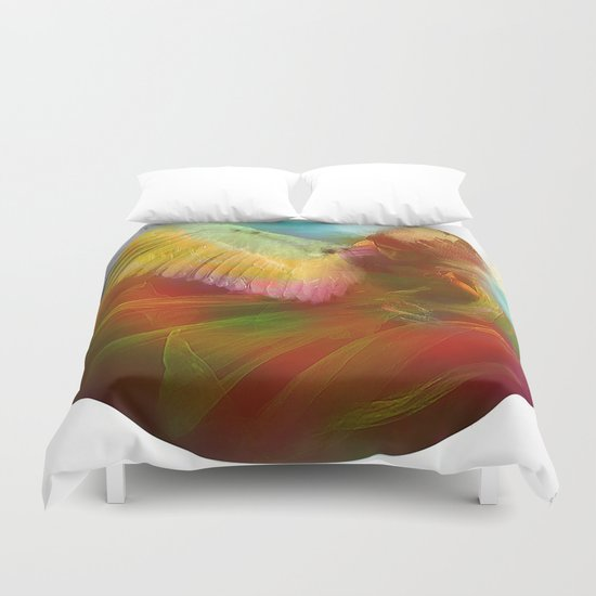 The messenger Duvet Cover
