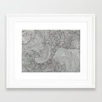 the strokes Framed Art Prints featuring Strokes by Sarah Renee G.