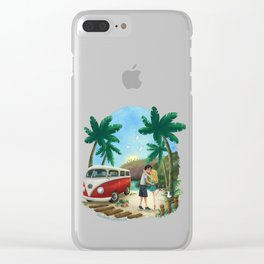 Summer Travels Clear iPhone Case