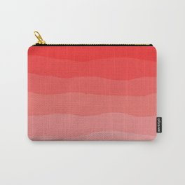 Red Strawberries and Cream Ombre Carry-All Pouch