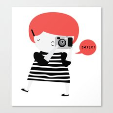 The ginger photographer Canvas Print