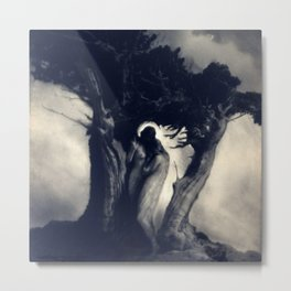 Heart of the Strom, Two Female Figures black and white photograph / photography Metal Print