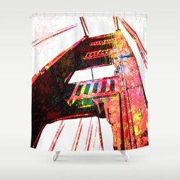 Golden Gate Bridge - San Francisco - Pop Art Shower Curtain