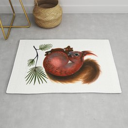 TinTin The Red Squirrel Rug