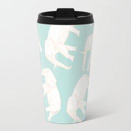 African Animals - Elephant Green Travel Mug