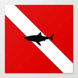 Diving Flag: Shark Canvas Print