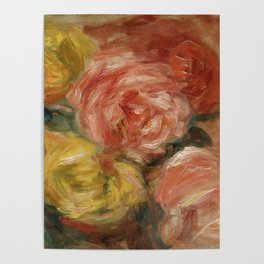 """Auguste Renoir """"Nature Morte Aux Roses (Still life with roses)"""" Poster"""