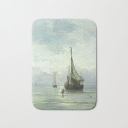 Vintage Ship Painting Bath Mat