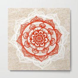 Natural Mandala Knit Metal Print