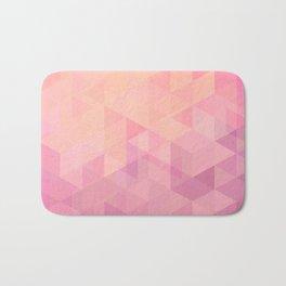 Geometric Pink  Bath Mat