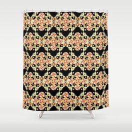Suzani Stripe Pattern Shower Curtain