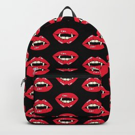 Vampire Mouth - Black Backpack