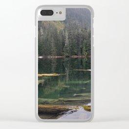 Mason Lake Washington Clear iPhone Case