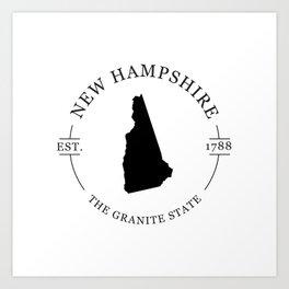New Hampshire - The Granite State Art Print