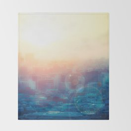 Tokyo Skyline Throw Blanket