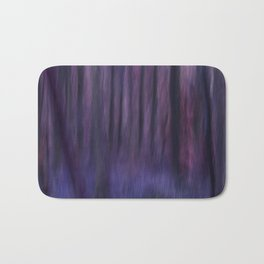 Painted Trees 2 Purples Bath Mat
