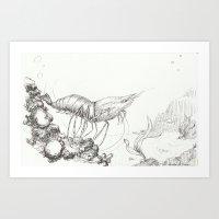 For the love of Shrimp Art Print