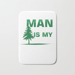 Man In The Tree Climbing Recreational Activity Harness Trees Helmet Caving Gift Bath Mat