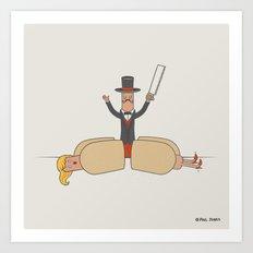 Hot Dog Magician  Art Print