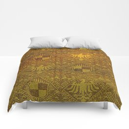 Prussian Tapestry 19th Century Comforters