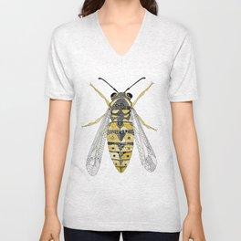 Yellowjacket Wasp Unisex V-Neck
