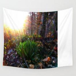 'Sun Awakening Sleeping Daffodils' Wall Tapestry