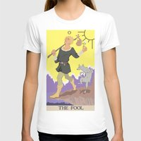 tarot T-shirts featuring Tarot Card by eileenoberlin
