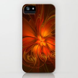 Burning, Abstract Fractal Art With Warmth iPhone Case