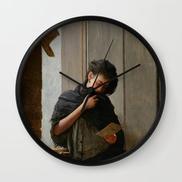 Longing (Saudade) by Almeida Junior Wall Clock