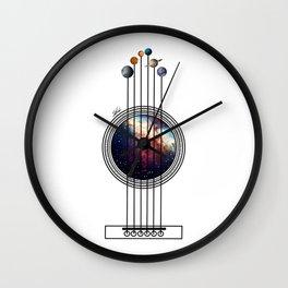 Space guitar. Wall Clock