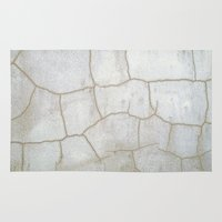 cracked Area & Throw Rugs featuring Cracked  by Ethna Gillespie