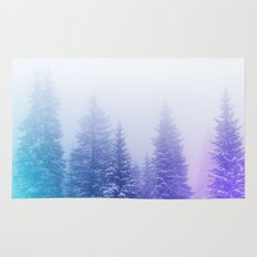 Blue and Purple Pines Rug