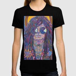 Psychedelic Sun Goddess Portrait T-shirt