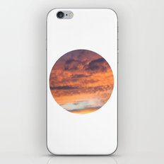 Berkshire Sunset IV circle iPhone & iPod Skin